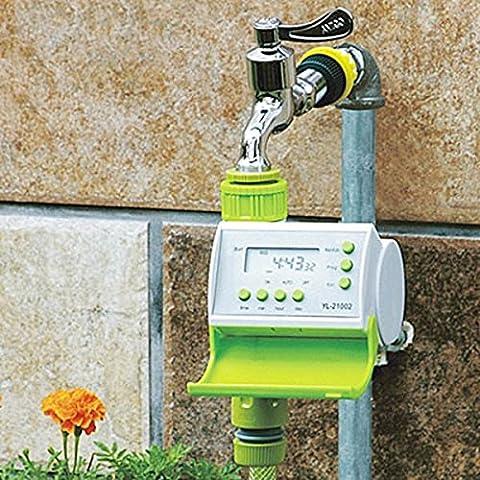 Bluelover LCD automático riego temporizador inteligente solenoide válvula controlador de riego de