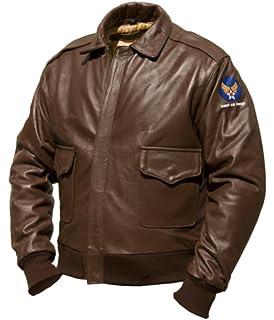 aab76d87665 Noble House Homme Blouson Veste aviateur dite A2 Intermédiaire en véritable  Cuir de Cheval
