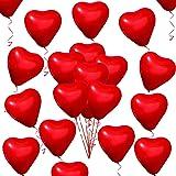 50 Pezzi Amore Palloncini cuore Rosso Cuore Palloncini per Valentines Day Matrimonio Anniversario Fidanzamento Compleanno Gia