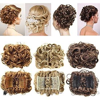 Short Messy Curly Dish Hair Bun Extension Easy Stretch hair