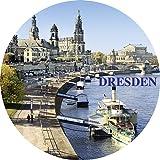 Magnet - Elbpanorama Dresden (rund)