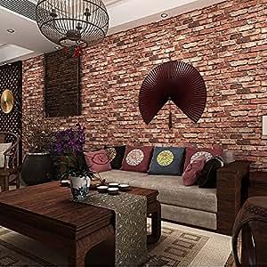 Ketian Modern Three Dimensional Wallpaper Red Brick Wall Pvc Wallpaper 3d Textured Bricks For