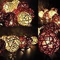 Erdfarben Rattan Kugel LED Lichterkette Von flowerglow von Flowerglow auf Lampenhans.de