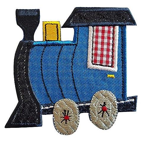 2 Ecussons patch appliques Train 8X7Cm Feutre 5X8Cm thermocollant brode broderie pour vetement jeans veste enfant bebe femme avec dessin TrickyBoo Zurich Suisse pour France