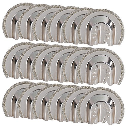 OxoxO Diamond Grout Removal Blade,2-1/2-Inch(64mm) Multi Tool Quick Realease Oscillating Saw Blade fit Black & Decker, Bosch, Craftsman, Chicago, Cougar, DeWalt and more (Pack of 18)