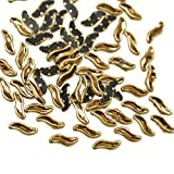 #9: Embroiderymaterial Kundans for Jewellery,Craft,Embroidery Making(S Shape 4MM 500 Pieces)