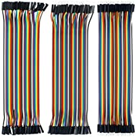Kit de Cables de Cable Dupont DE 40 Pines Macho a Macho, 40 Pines Macho a Hembra, 40 Pines Hembra a Hembra para Arduino/DIY/Raspberry pi/Robot DE 20 cm