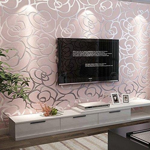 Non-tessuto carta da parati camera da letto soggiorno TV sfondo wallpaper Sfondi rosa Rose wedding camera , pink