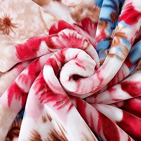 BDUK Invierno encajes Raschel gruesa manta Myers el encanto y la Alfombra Roja mantas de franela de boda