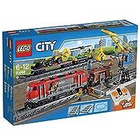 Lego City 60098 Treno Trasporto Pesante 6-12 Anni - Include 5 minifigure: un macchinista, un tecnico, un saldatore, un gruista e l'operatore della scavatrice, con diversi accessori - Il treno di trasporto pesante è dotato di locomotore diesel motoriz...