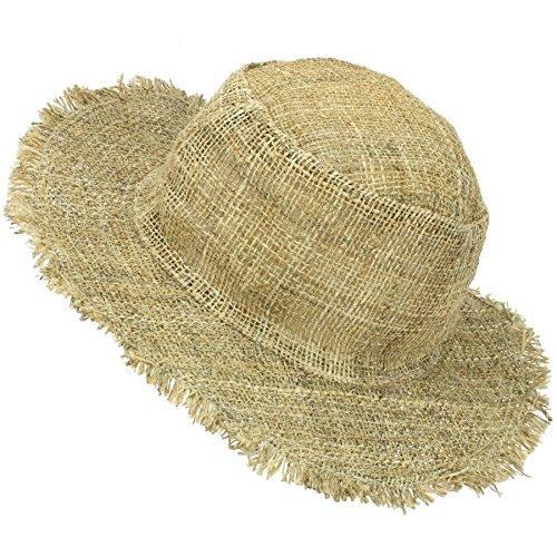 LOUDelephant Frayed Brim Hemp Sun Hat