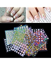 Anself Nail Art Stickers 50 Sheet 3D Mix Color Floral Design Decals Manicure Beautiful Fashion Accessories Decoration