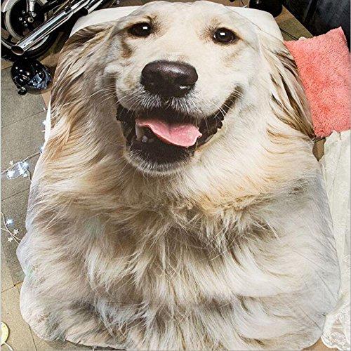 Simulations-Karikatur-Sommer-Sommer-dünne Steppdecke-Sommer-kühler Student-Jugenderwachsene einzelne Sommer-Waschende-Decken-Steppdecke (Golden Retriever Hund, 80 x 115 cm) - Werfen Decke ärmel
