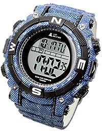 [LAD WEATHER] Potente orologio digitale solare da uomo in stile Sportivo Militare con Cronometro