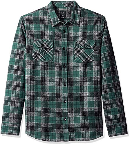 rvca-mens-lowland-long-sleeve-woven-shirt-sequoia-green-medium