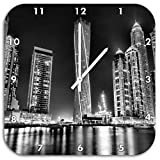 Monocrome, Dubai Burj al Arab, Wanduhr Durchmesser 48cm mit weißen spitzen Zeigern und Ziffernblatt, Dekoartikel, Designuhr, Aluverbund sehr schön für Wohnzimmer, Kinderzimmer, Arbeitszimmer