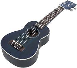 Magideal 21'' Spruce Ukulele Uke Hawaiian Guitar Musical Instrument Blue