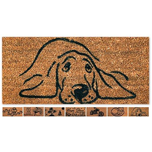 Fußmatte Türvorleger Eingangsmatte Treppe Hausflur 50x25cm Auswahl: Design - Hund