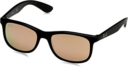 Ray-Ban Mirrored Rectangular Unisex Sunglasses - (0RJ9062S70132Y48|48|Flash Copper Color)