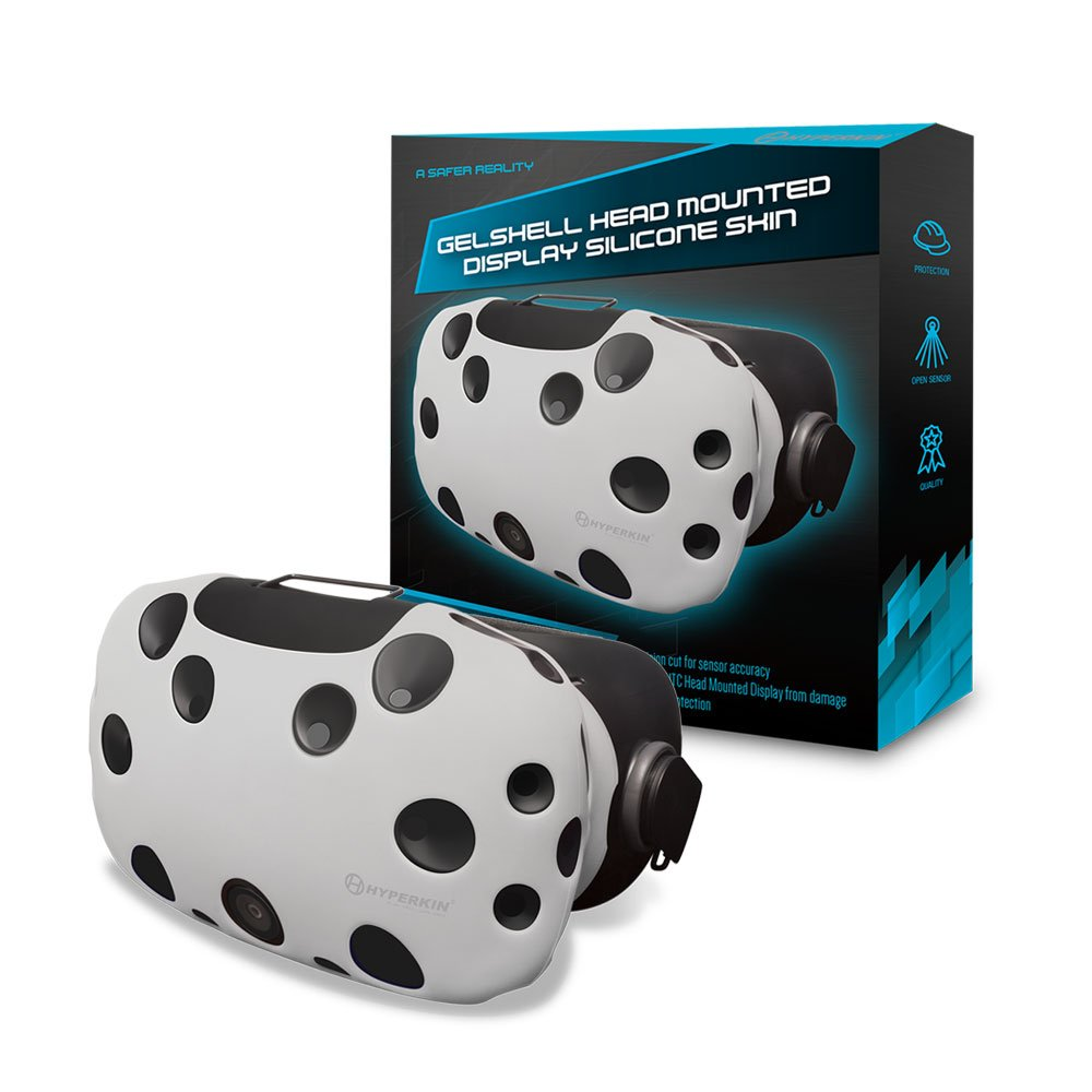 Housse Silicone Gelshell pour HTC Vive – Casque VR – blanc