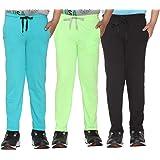 VIMAL JONNEY Girl's Regular Fit Trackpants (Pack of 3)