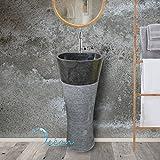 Vasque sur pied , colonne en marbre noir - Claro