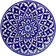 Aditya Blue Art Pottery Ceramic Art Pottery Ceramic Decorative Wall (Blue, 23 cm x 23 cm x 3 cm)