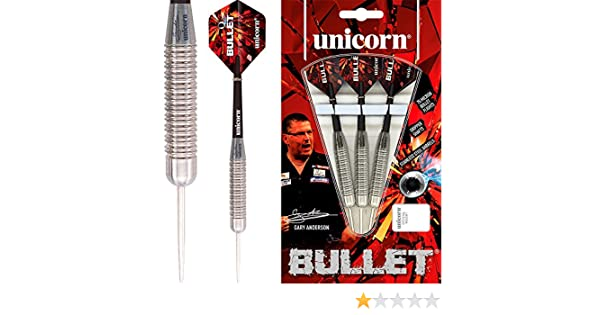 /GA1 /Gary Anderson/ /mit Darts Ecke gebogen Kugelschreiber 21/g/ Unicorn Dartpfeile Silver Star/
