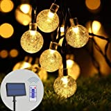 infinitoo Solar String Lights Outdoor, 19.8 Feet 40 LED Crystal Balls, Waterproof Globe Solar Powered, Globe Fairy String Lig