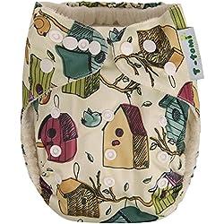 t-tomi AIO bambú pantalones para pañales,–Caja nido para pájaros