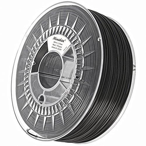 Minadax® 0,75kg Premium Qualität 1,75mm ASA-X-Filament schwarz für 3D-Drucker