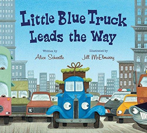 Little Blue Truck Leads the Way Board Book por Alice Schertle