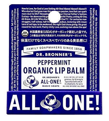 Dr Bronner Peppermint Lip Balm, 4g