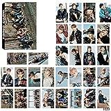 Bellenne 30 Pack BTS Photocard / Fotokarten / Postkarte / Poster, Jungkook, Jimin, V, Suga, Jin, J-Hope, Rap Monster Fanartikel, Sammlung und Beste Geschenk für The Army (H20)