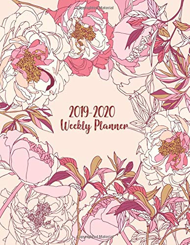 2019-2020 Weekly Planner: 2 Years Calendar (2019-2020) For Students and Adult Journal. Writing Plan for Your Appointment Notebook List.And Composition Notes