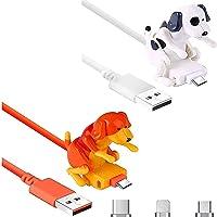 Ysang Streuner Hund Ladekabel, Kabel Hundespielzeug Smartphone USB Kabel Ladegerät, Mini Buckel Spot Hundespielzeug für…