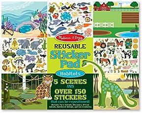 Melissa & Doug Reusable Sticker Pad-Habitats