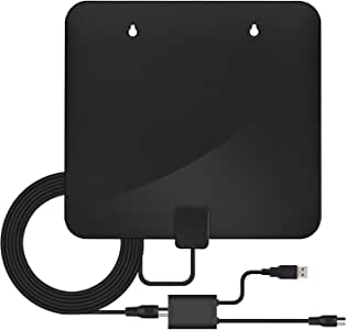 50 Miles Range with VHF//UHF//FM Signal Support 4K 1080P Detachable Amplifier Signal Booster and 10ft High-Performance Coaxial Cable Channel Philex Indoor HD Digital TV Antenna