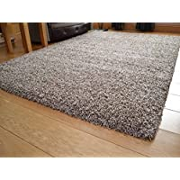 Soft Touch Shaggy Mocha Thick Luxurious Soft 5cm Dense Pile Rug. Available in 7 Sizes (160cm x 220cm)