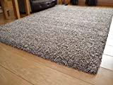 Soft Touch Shaggy Mocha Thick Luxurious Soft 5cm Dense Pile Rug. Available in 7 Sizes (120cm x 170cm)