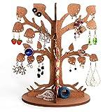Schmuckbaum Aufbewahrung fur Ohrringe - Schmuck Stander auf Holz - Schmuckhalter fur Ketten - Schmuckstander in Baum form - Halter fur Kette - Ohrringständer fur Geschenke