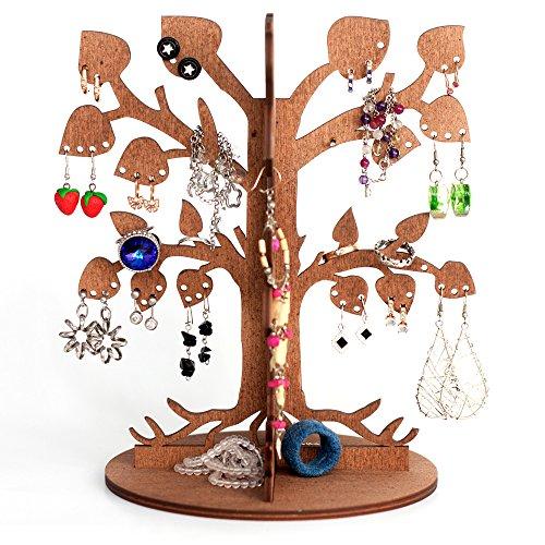 """Porta bigiotteria in legno a forma d'albero / per i tuoi orecchini / per i tuoi gioielli / espositore di gioielli / espositore a forma di """"leafy dream"""""""