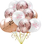 15 Pcs Rose Gold Bride To Be Latex Balloon Confetti Hen Bachelorette Party Baloons Wedding Decoration Team Bridal Shower...