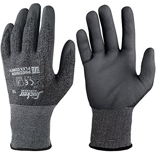snickers-93237448009-precision-flex-comfy-guantes-talla-9-negro-gris