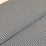 Stoff Meterware farbige Streifen blau weiss Baumwolljersey