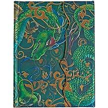 Boncahier 107011 Notizbuch-Once upon a Time 17.5 x 14 cm, 140 Seiten, liniert, Motiv Drache (Cuadernos Magicos)