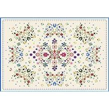 Printodecor 0009-657968250154 Alfombra Vinílica Impresa con Diseño Vintage, Multicolor, 143 x 97 cm