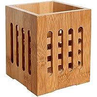 BESTONZON Porte-ustensiles en bambou pour cuillères, couteaux, fourchettes, baguettes