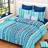 Vintana Blue Cotton Double Bedsheet With...