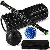 Festnight Massage Set Muscle Relief Kit Fascia Training Pack Roller Stick Foam Roller Fascia Balls